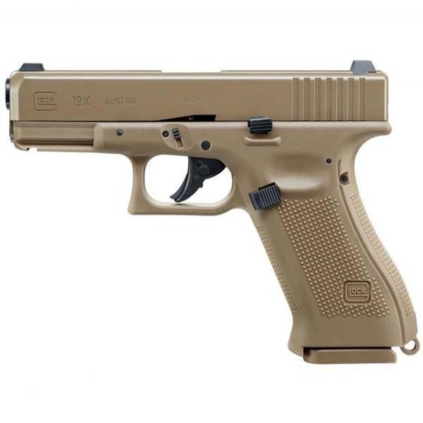 Bilde av Glock 19X FDE - 4.5mm Luftpistol med Blowback