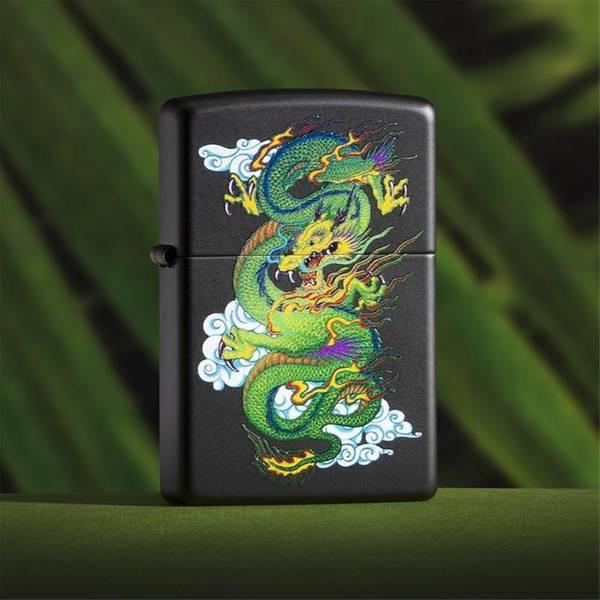 Bilde av Zippo - Farget Drage Motiv - Lighter