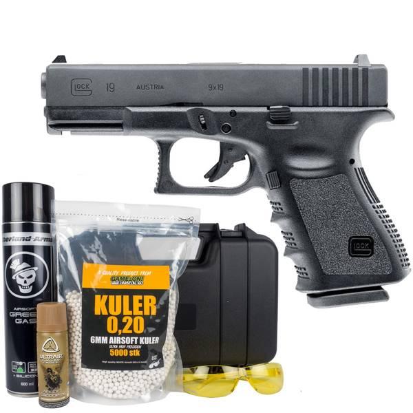 Bilde av Glock 19 - Gass softgun med Blowback - PAKKE