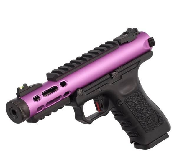 Bilde av WE - Galaxy Gassdrevet Softgun Pistol GBB - Lilla