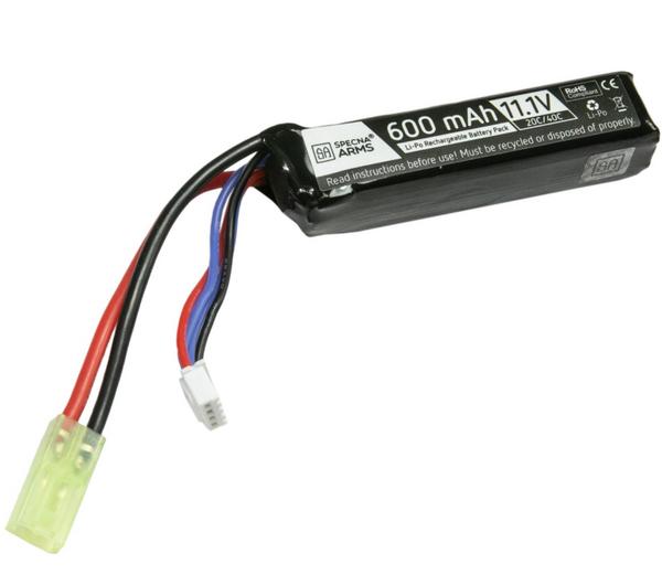 Bilde av SA - LiPo 11.1V 600mAh 20/40C Batteri til PDW - Mini Tamiya
