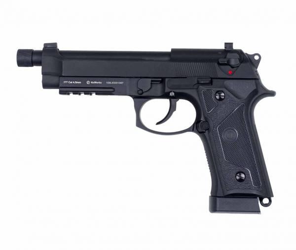 Bilde av NXW - M92 Elite Black 4.5mm Co2 Drevet Luftpistol - Svart