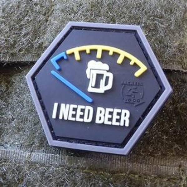 Bilde av Patch - I Need Beer Rubber - Blå