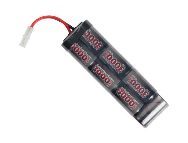Bilde av 8,4v Batteri, 3000mAh NiMH, stor plugg
