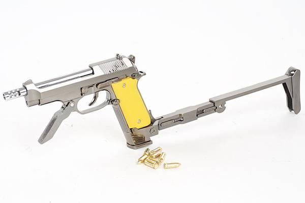 Bilde av Blackcat - Mini Model M93R m/ shell Ejection - Sort