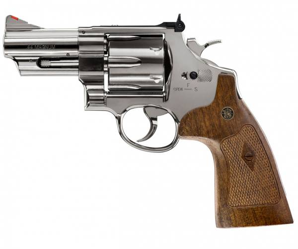 Bilde av Smith & Wesson - M29 3 CO2 Drevet Softgunrevolver - Blå Polert